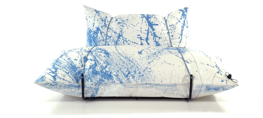 action painting sofa